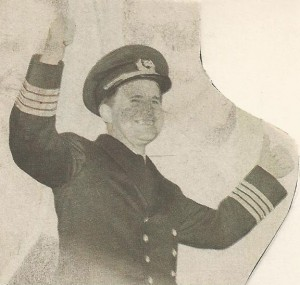 """Henrik Kurt Carlsen, """"Capt. Stay Put,"""" returns triumphantly after staying with his sinking ship for 13 days."""