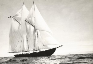The 140-foot Canadian schooner, Bluenose, sank in shallow water off Haiti in 1946.