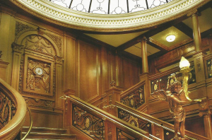 The glamorous grand staircase delights visitors.