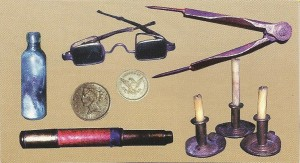 Captain Baldwin's personal belongings found in an area identified as his cabin.