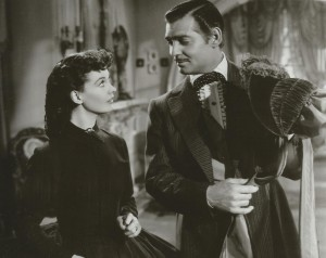 Clark Gable as Rhett Butler and Vivian Leigh as Scarlett O'Hara in Gone With The Wind
