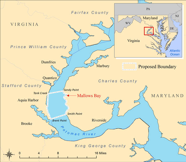 Mallows Bay: Graveyard for Government Boo-Boo   National ...Potomac River Map With States